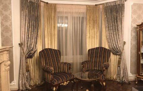 Классические шторы в интерьере фото