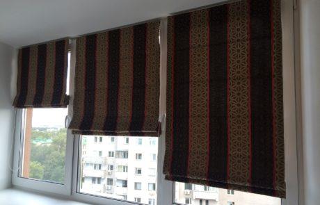 Римские шторы на окнах фото 3