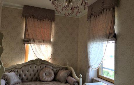 Римские шторы в интерьере фото 1