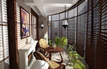 Дизайнерские шторы для лоджии